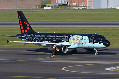 OO-SNB Airbus A320-214 EBBR 13-05-19 (MarkP51) Tags: oosnb airbus a320214 a320 brusselsairlines sn bel tintin specialcolours brussels zaventem airport bru ebbr belgium airliner aircraft airplane planr image markp51 nikon d500 sunshine sunny nikon200500f56vr
