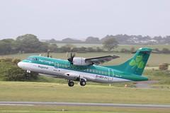 Aer Lingus Regional ATR42-600 EI-GEV at Isle of Man EGNS 03/06/19 (IOM Aviation Photography) Tags: aer lingus regional atr42600 eigev isle man egns 030619