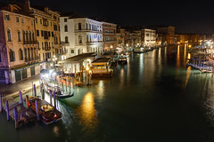 Venice at night (SvenvBins) Tags: venice italy night hdr boats