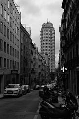 Plaza de España (Diego Leon y Bethencourt) Tags: minolta madrid x300 samyang df400x street photography fotografia de calle procesion lavapies cuatro torres españa black white blanco y negro rokkor 50 17