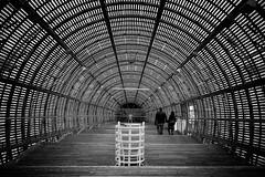The Gulliver airship (Alizarin Krimson) Tags: artcentre airship art museum blackandwhite blackwhite bnw couple room exhibitionhall wooden wood zeppelin gulliverairship contemporary dox prague