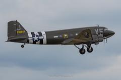 C-47A Virginia Ann N62CC (Mark_Aviation) Tags: c47a virginia ann n62cc c47 usaaf operation overlord dday d day veteran normandy market garden varsity dc3 dakota dakotas c53 daks over iwm duxford egsu aircraft airplane ww2 wwii