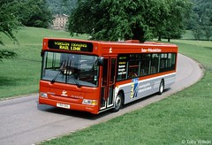 T801OHL Stagecoach East Midlands EMMS 801 (theroumynante) Tags: t801ohl stagecoach east midlands emms 801 dennis super pointer dart plaxton chatsworth park virgin trains rail link bus buses singledeck lowfloor road transport