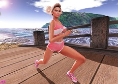 Running (alexandra sunny) Tags: safira mosquito´sway catwa maitreya aviglam truth secondlife blog blogger fashion female woman landscape pink