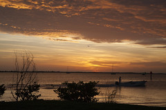Going fishing (mimsjodi) Tags: indianriverlagoon titusvillefl sunrise sky clouds water titusvillemarina marina