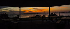 Window on the world (mimsjodi) Tags: indianriverlagoon titusvillefl sunrise sky clouds water titusvillemarina marina