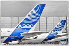 Airbus 4 engines flight test (Florent Péraudeau) Tags: airbus 4 engines flight test fwwow industrie a380841 msn 001 fwwca a340642 360 a380 a340 349 388 380 340 641 60 800 841 airbus50