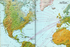 Air France transatlantic network, 1984 (airbus777) Tags: airfrance routemap cartesderoute 1984