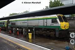 218 at Heuston, 29/5/19 (hurricanemk1c) Tags: railways railway train trains irish rail irishrail iarnród éireann iarnródéireann dublin heuston 2019 generalmotors gm emd 201 218 1800heustoncork
