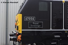 67006 at Crewe Diesel Depot, 8/6/19 (hurricanemk1c) Tags: railways railway train trains networkrail 2019 crewe crewedieseldepot allchangeopenday lsl locomotiveserviceslimited openday generalmotors gm emd 67006 class67 royal
