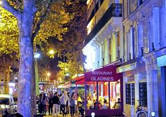 Boulevard Saint-Germain, Post-Processed White Balance (londonexpat) Tags: hotel abbatial night cafe brasserie paris france nightlife sonyrx100