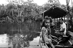 Fishing in the Amazon rainforest (David M. Stucki) Tags: efs18200mmf3556is canoneos80d black white iquitos fishing david manuel stucki new amazonas amazon river fluss fischen boot boat ship
