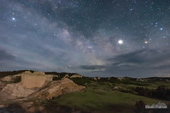 A Touch of Moonlight (kevin-palmer) Tags: revagap southdakota custernationalforest june spring nikond750 tamron2470mmf28 night sky dark space astronomy astrophotography stars starry milkyway galaxy jupiter planet thecastles scenic overlook clouds moonlit moonlight