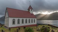 visit Faroe Island: Kunoy (Stefan Giese) Tags: nikon d750 färöer faroe islands faroeislands kunoy kirche church sunbeam