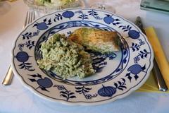 Lachs-Reis-Pesto-Auflauf (multipel_bleiben) Tags: essen zugastbeifreunden reis lachs fisch pesto auflauf