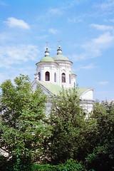 Two church towers stand proudly in the morning sun (titan3025) Tags: leica leicam6 m6 kodak ultramax 400 kiev 2019
