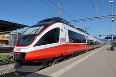 St. Margrethen SG - ÖBB cityjet (Kecko) Tags: 2019 kecko switzerland swiss schweiz suisse svizzera ostschweiz rheintal stmargrethen sg railway railroad eisenbahn bahn zug train sbb öbb bahnhof station 40241733 cityjet bombardier talent sbahn vorarlberg swissphoto geotagged geo:lat=47453390 geo:lon=9638380