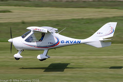 G-KVAN - 2007 build Flight Design CTSW, arriving on Runway 26L at Barton (egcc) Tags: 071011 8334 barton brown ctsw cityairport egcb flightdesign giroe gkvan lightroom manchester microlight pmaviation