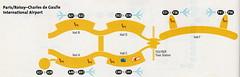 Delta CDG diagram, 2002 (airbus777) Tags: deltaairlines parischarlesdegaulle cdg airportmap 2002