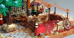 Cow stable inside the walls (adde51) Tags: city wall cow cows lego market camel cheetah marketplace camels turret moc guardtower mophet cityguard guildsofhistorica adde51 tower fort kaliphlin swedishlegomafia