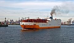 rusty ro-ro (midcheshireman) Tags: ship roro grandeafrica hamburg gernany river elbe