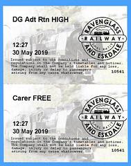 R&ERly Tickets (Steve Guess) Tags: ravenglass eskdale light railway 15inch 460mm narrow gauge minimum cumbria england gb uk ticket laal ratty re