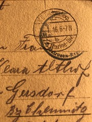 World war 1  Post stamp / Feldpoststempel Marine (Jojorei) Tags: poststamp poststempel briefstempel brief erster weltkrieg ww1 world war 1 krieg feldpost stamp marine matrosen regiment division