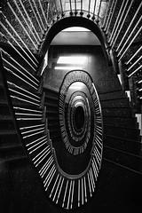 III STRIPES III (michael_hamburg69) Tags: hamburg germany deutschland jarrestrasse42 treppe stairs stairway staircase treppenhaus cagedescalier escalera vanoscala trombadellescale gabbiadellescale lóutījiān corkscrewstairs flightofwindingstairs helicalstair spiral escaleraespiral monochrome