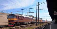 Latvia class TEP70 (onewayticket) Tags: diesel railway trains transport ldz locomotive loco riga latvia