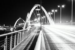 Bridge at the night (Amy Charlize) Tags: amycharlize focosocial light city street streetlife bridge brasilia brazil urban landscape blackandwhite photography travel visiting