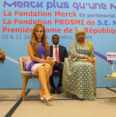 Merck Foundation in Guinea (merckfoundation1) Tags: fertility africa guinea first lady dr rasha kelej merck foundation more than mother ivf infertility