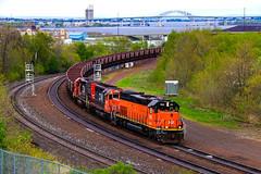Overwatch (BravoDelta1999) Tags: bessemerandlakeerie ble railroad canadiannational cn railway duluthmissabeandironrange dmir missabesubdivision duluth minnesota dock6 collingwood interlocking emd sd40t3 sd403 906 taconite ore train