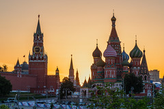 Eve of Russia Day (gubanov77) Tags: sunset moscow russia city ctyscape goldenhour capital capitalcity cathedral church architecture redsquare saintbasilscathedral moscowkremlin kremlin moscowphotography afterglow