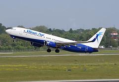Blue Air Boeing 737-82R(WL) YR-BMK (EK056) Tags: blue air boeing 73782rwl yrbmk düsseldorf airport