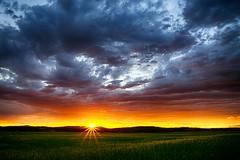 Burning Sky (Jürgen Mayer) Tags: himmel sky cloud clouds wolke wolken landschaft landscape sunset sonnenuntergang bayern bavaria oberfranken pentax pentaxart pentaxlife hdr tamron281750