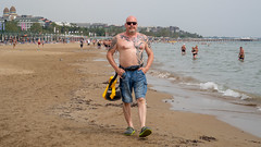 Beach People. . . (CWhatPhotos) Tags: cwhatphotos flickr pics picture pictures photo photos photographs foto fotos with that have which contain look like art artistic view views camera olympus micro four thirds sunny day holidays holiday turkey side turkish may 2019 hot sun blue sky skies gorgeous people onthe sand seaside games man male torso tattooed tattoo tattoos body walk beach life pose goatee water waters edge