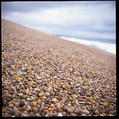 Chesil Beach 1 for flickr downsampled (ed_rickh) Tags: chesil beach yashica velvia50 velvia epsonv550 tlr 120 6x6 yashica6335 iso50