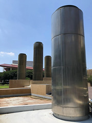 High and Dry (Diorama Sky) Tags: unitedstates us texas tx houston architecture landscapeachitecture park publicpark tranquillitypark charlestapley tapley fountain worthamfountain column metal steel stainlesssteel dioramasky fora
