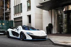 Al-Thani. (TJHarrington) Tags: mclaren p1 qatar 420000 white blue car hypercar supercar supercarsoflondon londoncars london mayfair parklane 45parklane arabic gulf 2017