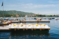 Early Saturday. The boats are ready for customers (titan3025) Tags: leica leicam6 m6 summicron 35mm kodak ultramax 400 zürich 2019