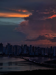Rainy Dusk (Bernai Velarde-Light Seeker) Tags: panama city centralamerica sea ocean pacific bernai velarde buildings apartments duskdawn sunset sunrise clouds urban
