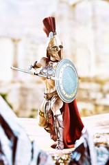 Amazon 4 (Mr Action Figure) Tags: 16 16scale phicen tbleague seamless seamlessfigure female femalefigure warrior cape shield spear leather armor blonde helmet bikini topless roman greek battle guard prateorian spartan hottoys verycooltoys toy doll boots