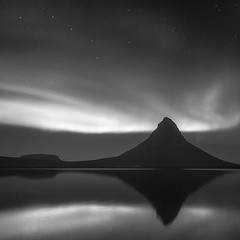 Aurora (frodi brinks photography) Tags: kirkjufell blackandwhite frodibrinks iceland borealis northernlights aurora