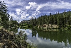 Red Lake (Dennis_R_Smith) Tags: redlake washingtonstate easternwashington landscape lake clouds forest reflections sky sony