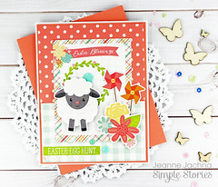Easter Blessings (akeptlife) Tags: easter simplestories card cardmaking papercrafting patternpaper lamb bunniesandbaskets