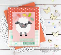 Sugar Rush (akeptlife) Tags: simplestories bunniesandbaskets easter card cardmaking papercrafting patternpaper lamb jellybeans