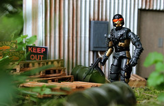 Keep Out (scarrviper) Tags: headhunters stormtrooper gijoe