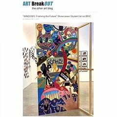 Student Art at BRIC  Brooklyn (LoisInWonderland) Tags: bric studentart communityart bricteachingartists collaborativeart artexhibition arteduction windowsframingthefuture artbreakout