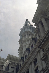 Philadelphia City Hall - Fed 2 + Kodak Colorplus 200 (itskaty) Tags: philadelphia fed2 pennsylvania kodakcolorplus200 35mm rangefinder russianleica cityhall centercity architecture historic