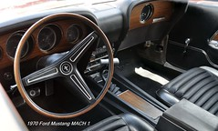 1970 Ford Mustang Mach 1 (Wing attack Plan R) Tags: fordmotorco mach1 mustang interior dash 1970
